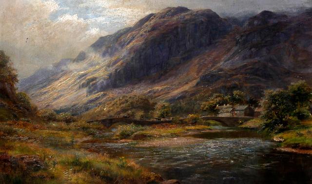 William Lakin Turner (British, 1867-1936) 'Grange in Borrowdale'
