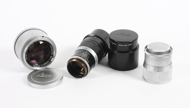Leica screw mount lenses qty