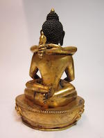 A gilt bronze of Amitayus in yab-yum Tibetan, 19th century