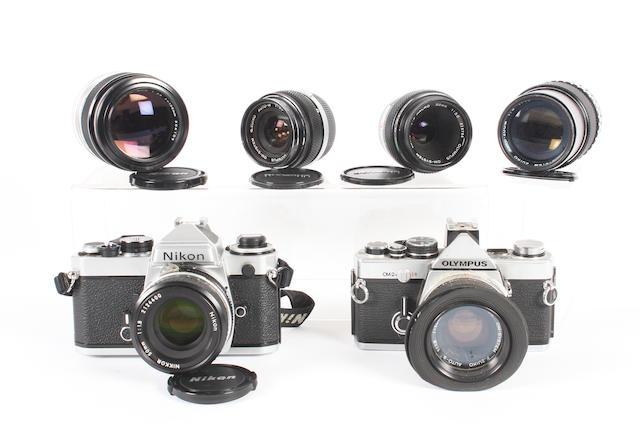 Nikon and Olympus cameras