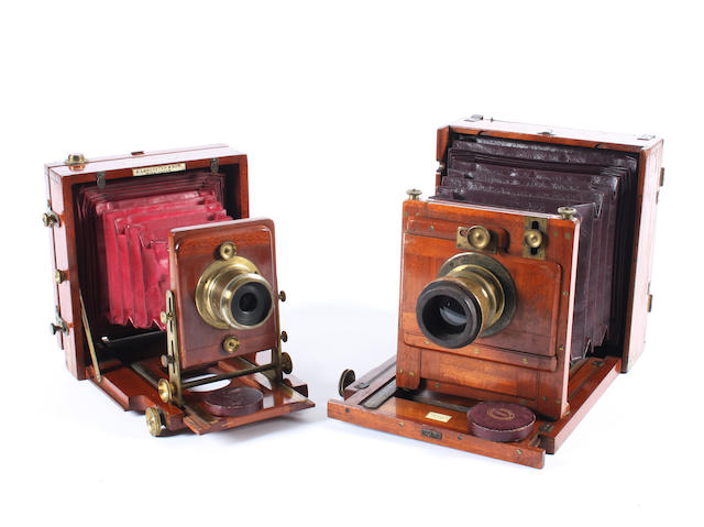 Mahogany and brass field cameras