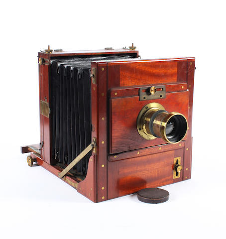 Whole plate mahogany field camera
