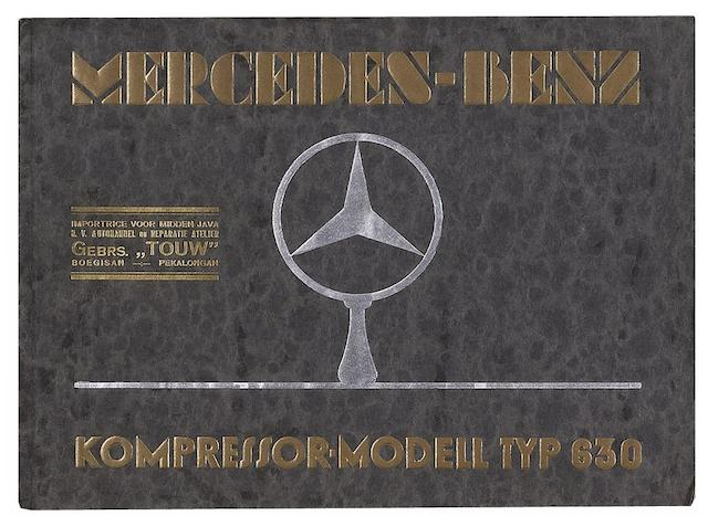 A Mercedes-Benz Kompressor Modell Typ 630 sales brochure, dated January 1929,