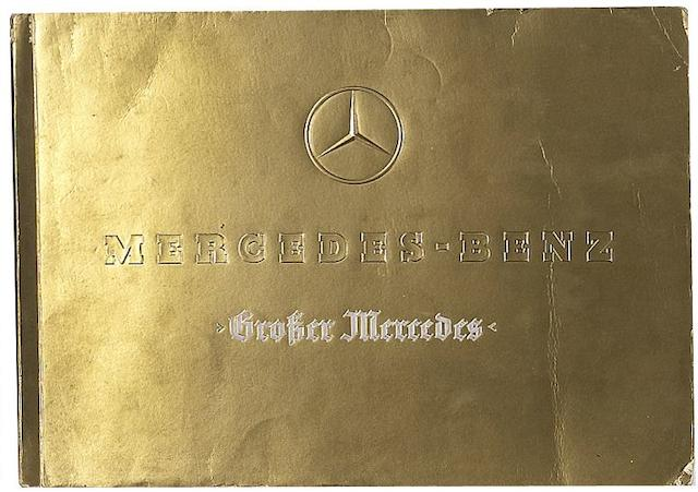 "A Mercedes-Benz Typ ""Grosser Mercedes"" sales brochure, 1938/39,"