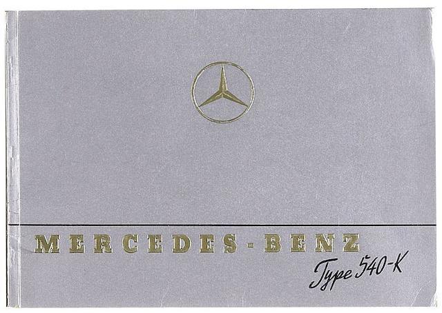 A Mercedes-Benz Type 540-K sales brochure