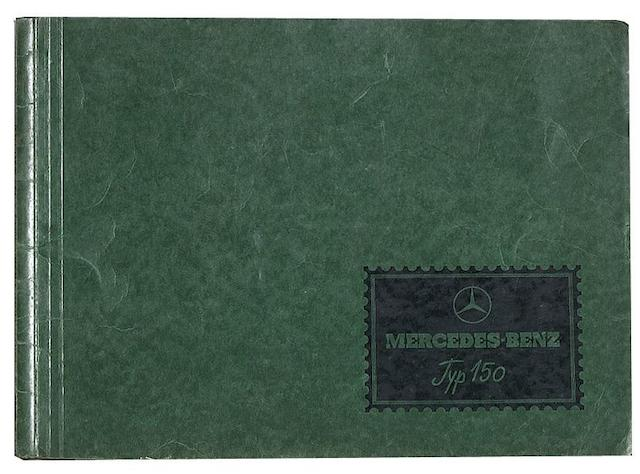 A Mercedes-Benz Typ 150 sales brochure, dated January 1935,