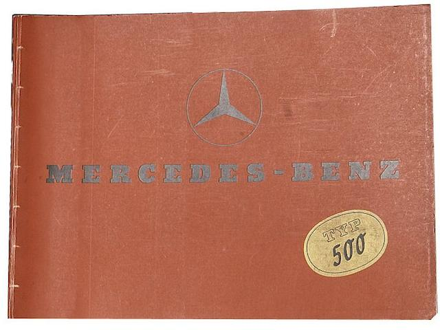 A Mercedes-Benz Typ 500 sales brochure, dated February 1937,