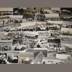 A quantity of Grand Prix and motorsport photographs by Geoff Goddard, used in his book 'Track Pass',