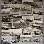 A quantity of photographs of pre and post-War British competition cars,