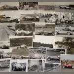 Assorted photographs of Italian and Continental 1950s Grand Prix cars, by Geoff Goddard,