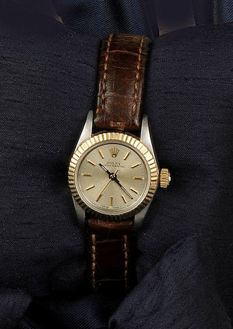 Rolex: A lady's stainless steel wristwatch