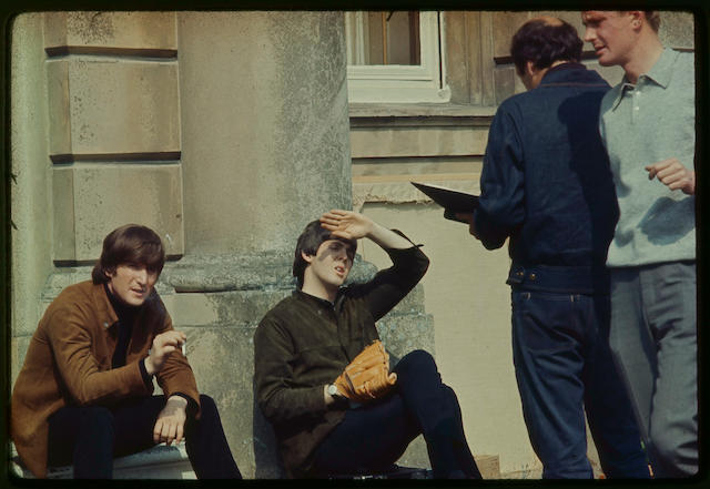Six colour photographs of the Beatles,