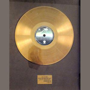 Status Quo: a Swiss 'Gold' sales award for the album 'Rockin' All Over The World', October 1978,