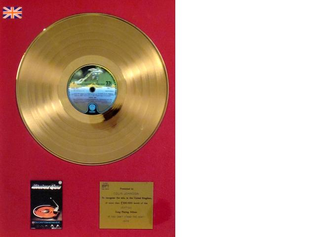 Status Quo: a 'Gold' sales award for the album 'If You Can't Stand The Heat',