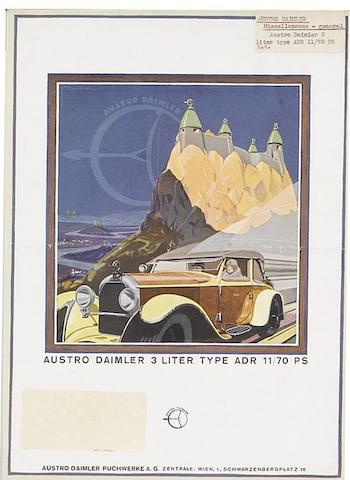 A collection of Austro Daimler ephemera,