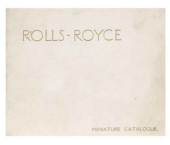 A Rolls-Royce Miniature catalogue, 1914,