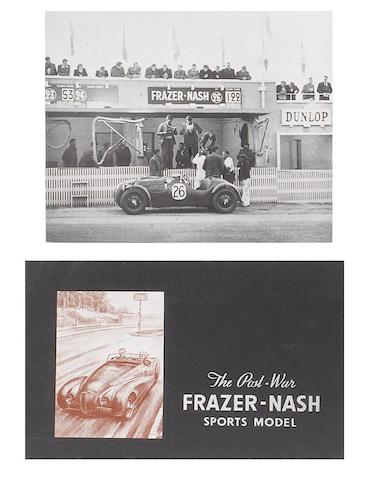 A quantity of Frazer-Nash sales ephemera