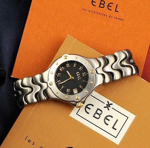 Ebel: A lady's stainless steel wristwatch