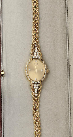 Piaget: An 18ct gold and diamond lady's wristwatch