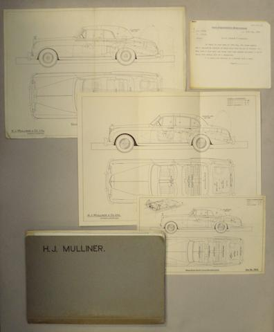 H.J. Mulliner & Co. Ltd. coachbuilders folder,