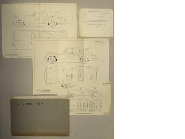H.J. Mulliner & Co. Ltd. coachbuilders folder