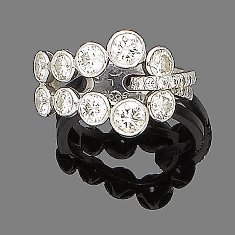 A diamond dress ring, by Boodles