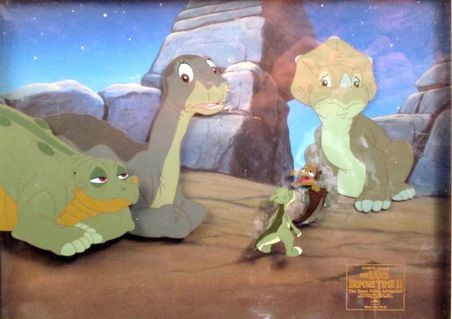 The Land Before Time II and The Small One: Three original animation celluloids,  1994 and 1979,3