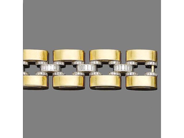 A diamond-set bracelet,