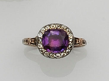 A George III amethyst memorial ring