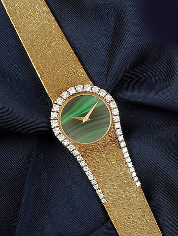 Piaget: An 18ct gold diamond set lady's wristwatch