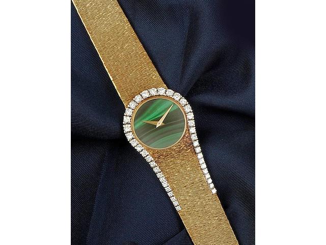 Piaget: An 18ct gold diamond set lady's wristwatch