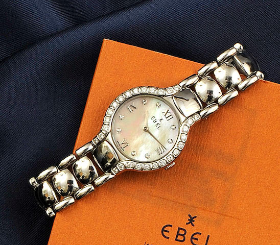 Ebel: A lady's diamond set wristwatch