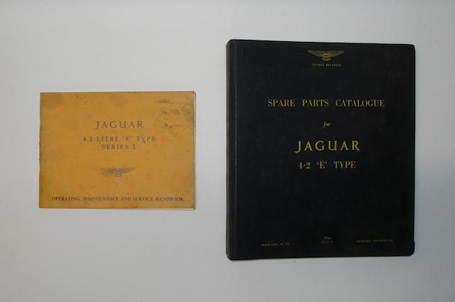 Two manuals for Jaguar 'E' Type,