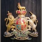 A hand-painted Royal Endorsement Coat of Arms,