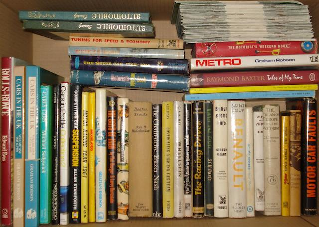 Assorted motoring books,
