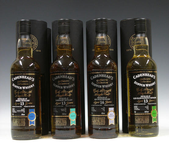 Ardbeg-13 year old-1994 (2)Tobermory-13 year old-1994 (2)Ben Nevis-16 year old-1990Glen Elgin-Glenlivet-13 year old-1991