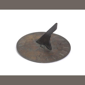 A W & S Jones bronze garden sundial,  English,  circa 1800,