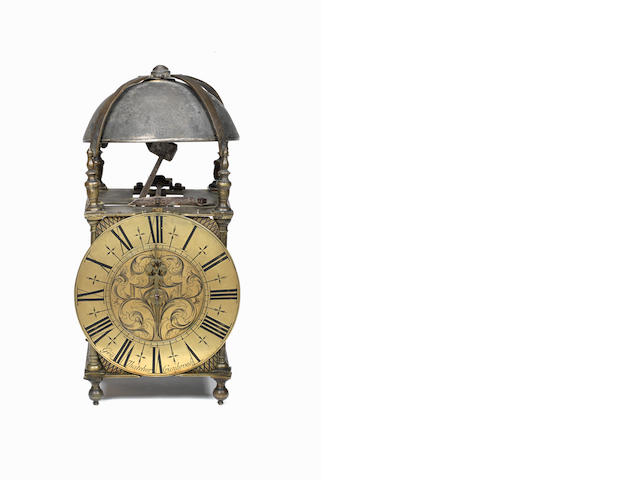 An interesting third quarter of the 18th century brass lantern clock George Thatcher, Cranbrook