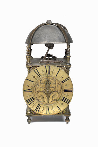 An interesting third quarter of the 18th century brass lantern clock George Thatcher, Cranbrook