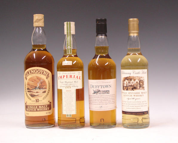Glengoyne-10 year old  Imperial-1979  Dufftown-15 year old  Kildrummy Castle-10 year old