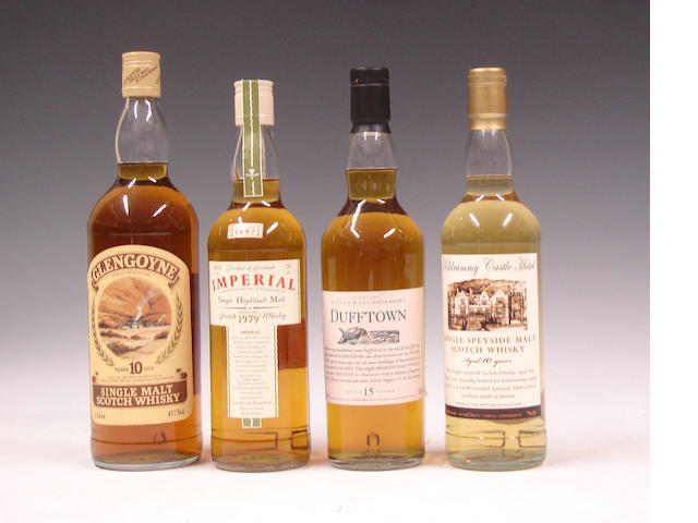 Glengoyne-10 year oldImperial-1979Dufftown-15 year oldKildrummy Castle-10 year old