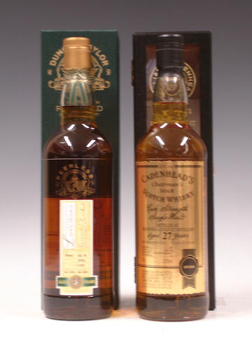 Longmorn-25 year old-1978  Balvenie-Glenlivet-27 year old-1979