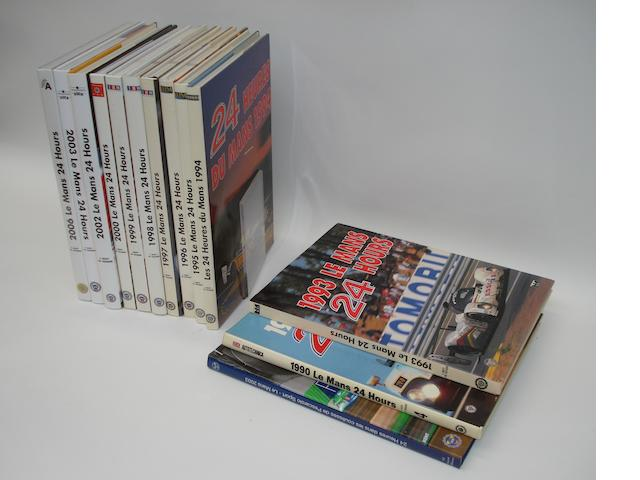 A lot of Le Mans 24 hour race annuals