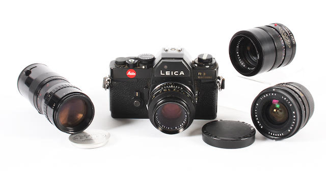 Leica R3 camera and lenses
