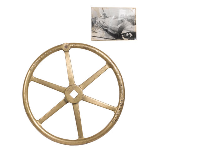 The bronze clutch control wheel from HMS Seraph, Operation Mincemeat 1942 2