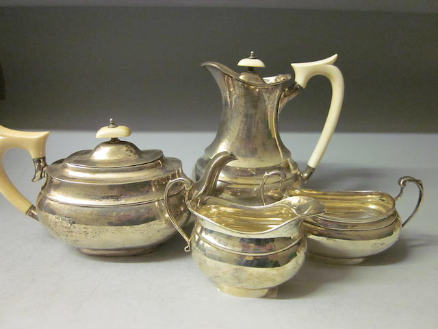 A four piece tea service