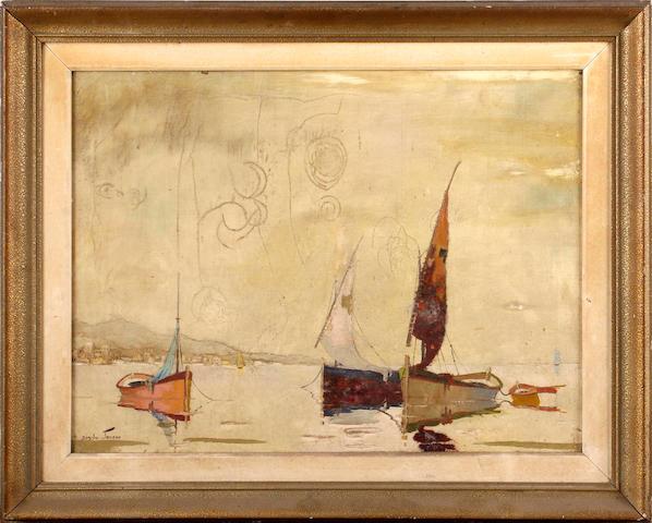 D'Oyly John (British, 1906-1993) Silent Sails