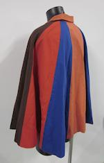 'The Prisoner': a multi-coloured cape,