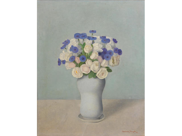 Antonio Donghi (Italian, 1897-1963) Vaso di fiori