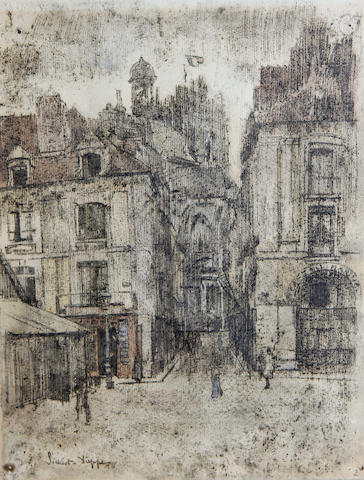 Walter Richard Sickert A.R.A. (British, 1860-1942) View of St Jacques, corner of Rue Duquesne